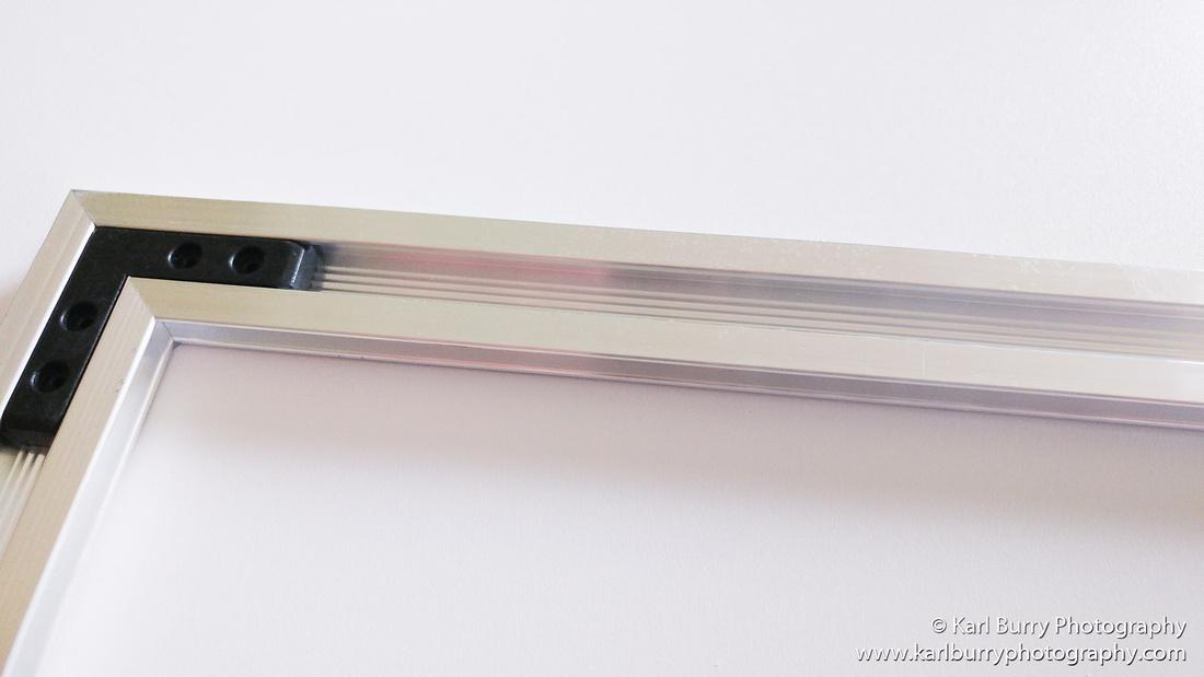 Karl Burry Photography Saal Digital review Foamboard aluminium subframe mounting detail